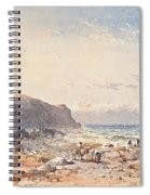 A Breezy Day With Fisherfolk On The Foreshore Spiral Notebook