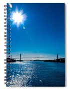 a Bridge with Flare Spiral Notebook