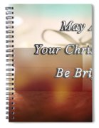 A Bright Christmas Spiral Notebook