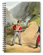A British Soldier Taking Two French Spiral Notebook