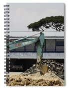 A Bulldozer Moving Dug Out Concrete And Fresh Earth Below The Concrete Spiral Notebook