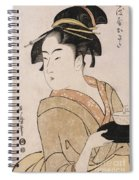 A Bust Portrait Of The Waitress Okita Of The Naniwaya Teahouse Spiral Notebook