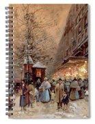 A Busy Boulevard Near The Place De La Republique Paris Spiral Notebook