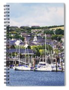 A Busy Harbour And Waterfrontkinsale Spiral Notebook