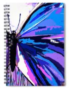 A Butterfly So Blue Spiral Notebook