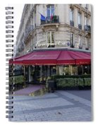 A Cafe On The Champs Elysees In Paris France Spiral Notebook
