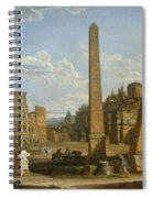 A Capriccio View Of Roman Ruins, 1737 Spiral Notebook