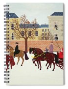 A Carriage Escorted By Police Spiral Notebook