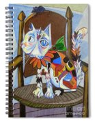 A Cat For Picasso_ Chat Et Souris Spiral Notebook