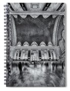 A Central View Bw Spiral Notebook