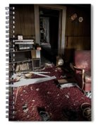 A Chair In Red Spiral Notebook