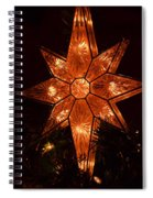 A Christmas Star Spiral Notebook