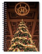 A Christmas Tree At Union Station Spiral Notebook