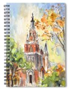 A Church In Our Street In Budapest Spiral Notebook