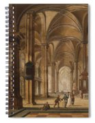 A Church Interior With Elegant People Spiral Notebook