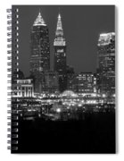 A Cleveland Black And White Night Spiral Notebook