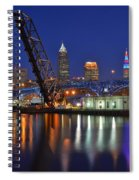 A Cleveland Ohio Evening On The River Spiral Notebook