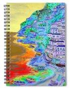 A Coastal View Of Positano Spiral Notebook