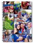 A Collage Of The Fresh Market In Kusadasi Turkey Spiral Notebook