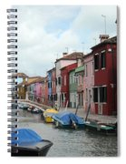 Burano Canal Spiral Notebook