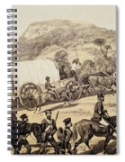 A Convoy Of Wagons Spiral Notebook