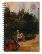 A Corner Of The Garden At The Hermitage Spiral Notebook