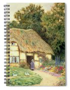 A Cottage By A Duck Pond Spiral Notebook