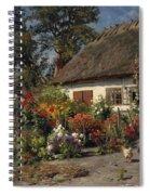 A Cottage Garden With Chickens Spiral Notebook