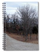 A Country Driveway Near The Brazos River Spiral Notebook