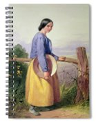 A Country Girl Standing By A Fence Spiral Notebook