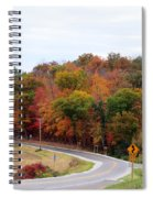 A Country Road In Autumn Spiral Notebook