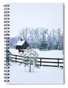 A Country Winter Spiral Notebook