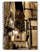 A Couple In A Little Restaurant In The Ancient City Of Albarracin Spiral Notebook