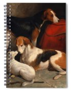 A Couple Of Foxhounds With A Terrier The Property Of Lord Henry Bentinck Spiral Notebook