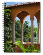 A Covered Walkway At The Biltmore Spiral Notebook
