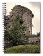 A Cross In The Ruins Spiral Notebook