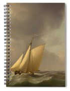 A Cutter In A Strong Breeze Spiral Notebook