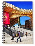 A Day At The Parasol Metropol Spiral Notebook