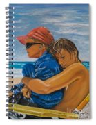 A Day On The Beach Spiral Notebook