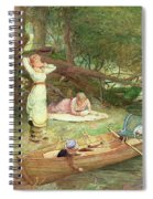 A Day On The River Spiral Notebook