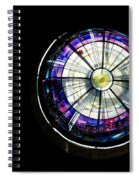 A Dazzling Stained Glass Gem Emerging From The Darkness Spiral Notebook