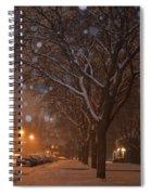 A December Night Spiral Notebook