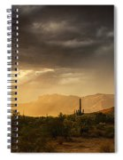 A Desert Monsoon Sunset  Spiral Notebook