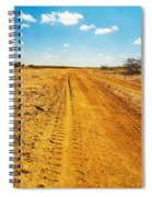 A Dirt Road In The Desert Spiral Notebook