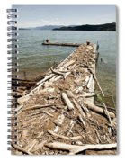 A Dock Covered With Driftwood Spiral Notebook