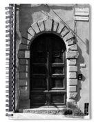 A Door In Tuscany Bw Spiral Notebook