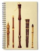 A Double Flageolet, A German Flute Spiral Notebook