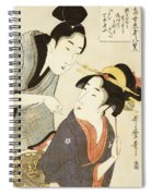 A Double Half Length Portrait Of A Beauty And Her Admirer  Spiral Notebook