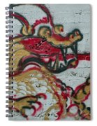 A Dragon On My Wall Spiral Notebook