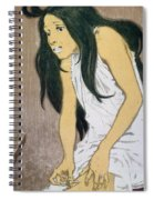 A Drug Addict Injecting Herself Spiral Notebook